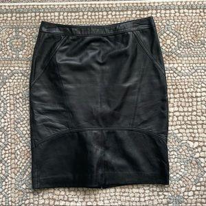 Antonio Melani - leather skirt - size XS